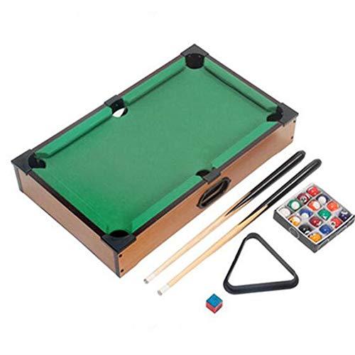 CLX Tischplatte Tischkicker Tischbillard, Tischbillard in Holz Optik Dreieck Kreide Exklusiver Farbe Königsblau Größe Multigame,Grün