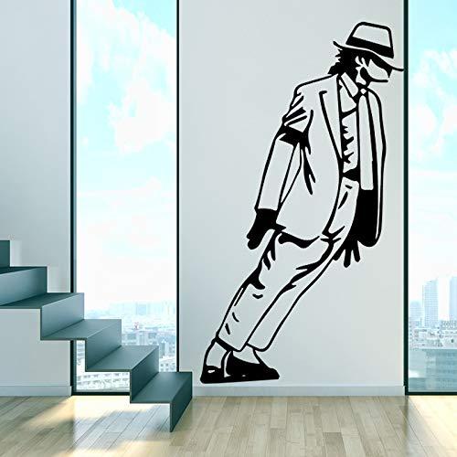 sanzangtang Adesivo murale Ragazzo per Arredamento Camera da Letto Adesivo Rimovibile in Vinile Adesivo Art Deco Poster Carta da Parati 87x153cm