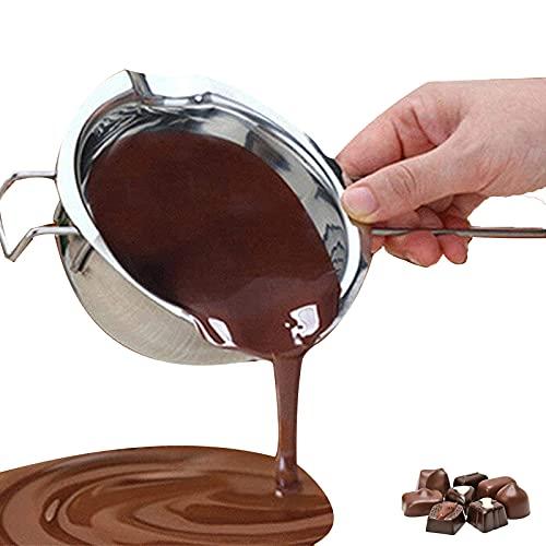 Chytaii Bol Casserole Bain-Marie en Inox Bol à Fondre Chocolat Beurre avec Poignée Ustensile de Cuisine Cuisson Pâtisserie