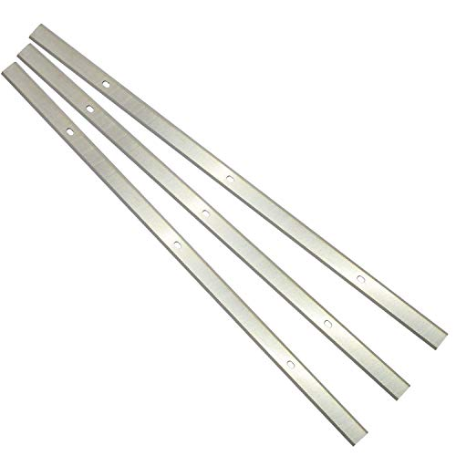 Planer Blades Knives HSS Replacement for Delta 22-580 22-549 22-555 22-590 Wen 6552 Craftsman 21743 Grizzly G0689 Ryobi AP1300 Metabo DH330 Thickness Planer 13 Inch Heat Treated Double edge Set of 3 -  Asieg Tool