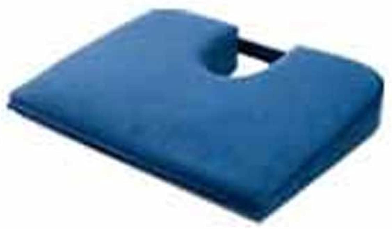 TUSH CUSH Seat Cushion - Small Home Office Car Compu Computer Ergonomic Orthopedic Chair Cushion - Navy Velour Fabric