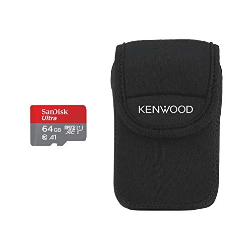 Kenwood 64GB Ultra Micro SD-Card + FOC Carry Case