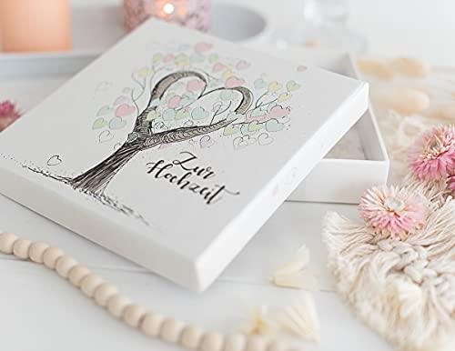 Geldgeschenk zur Hochzeit - Geldverpackung - Geschenk fürs Brautpaar Tree of Love