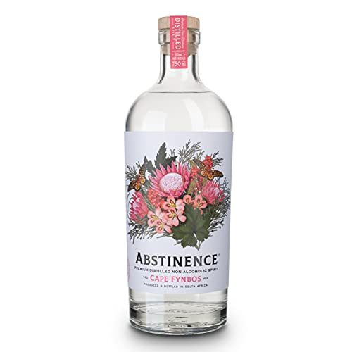 Abstinence - Non-Alcoholic Gin Spirit - 75cl Bottle - Cape Fynbos - Infused with Juniper Berries,...