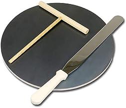 プロ仕様 クレープ 鉄板!今日から我が家もクレープ屋さん! クレープメーカー クレープ焼き器 サイズ350 板厚6.0mm トンボ・スパチュラ付き