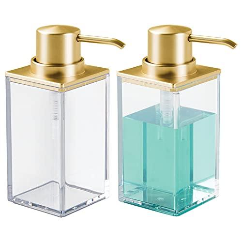 mDesign Set da 2 Dispenser sapone ricaricabile – Elegante...