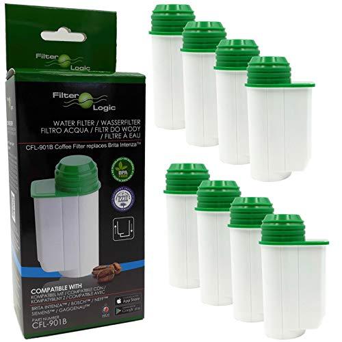 8 x FilterLogic CFL-901B filtre à eau remplace BRITA Intenza TCZ7003 - TCZ7033 - TZ70003-575491 - 467873-1016723 Cartouche filtrante pour Bosch/Siemens/Magimix/Panasonic - machine à café