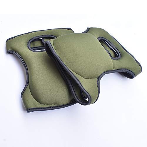 Tolyneil Knieschützer für die Arbeit, Komfortable Knieschützer für Schrubbböden Garten BAU - Kniendesign - Mehrzweckschwamm Anti-Rutsch-Schutzknieschoner (Olive Green)
