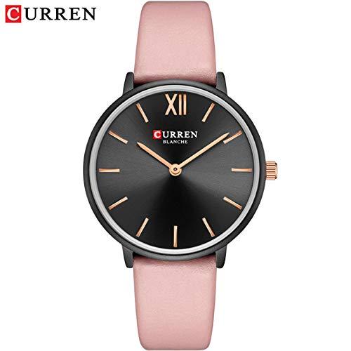 JPDP Relojes para Damas Relojes para Damas de Moda Relojes para Damas de Cuero Relojes Black