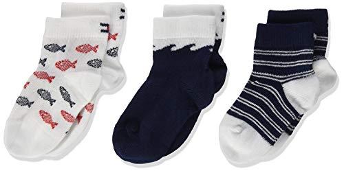 Tommy Hilfiger Baby-Jungen TH 3P GIFTBOX Socken, Mehrfarbig (Tommy Original 085), 15-18 (Herstellergröße: 15/18) (3er Pack)