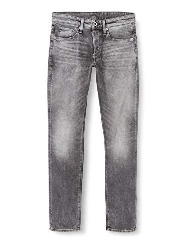 G-STAR RAW Mens 3301 Straight Tapered Jeans, Faded Bullit C293-B466, 33W / 32L
