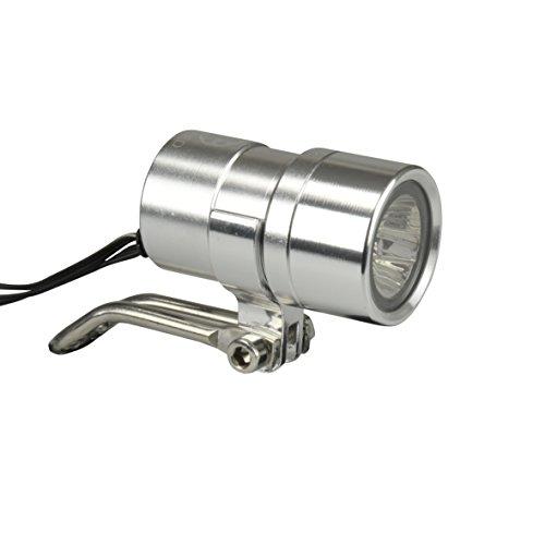 Fischer Dynamo Led-koplamp voor volwassenen, 20 lux, parkeerlicht, aluminium, zilver, één maat