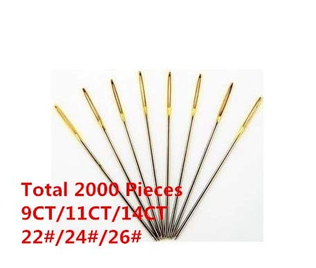 Review Of Embroidery Needles - 1 Lot=2000 Pieces 22# 24# 26# Embroidery Needle Cross Stitch Needle B...