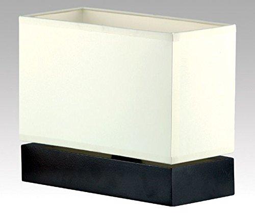 Bauhaus Tischleuchte (in Schwarz, Creme, Höhe 20cm, eckiger Schirm, E14) Innenleuchte Holzleuchte Tischlampe
