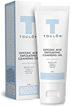 Glycolic Acid Facial Cleanser: Alpha Hydroxy Face Wash with AHA, Vitamin C & Rose Hip to Exfoliate Dry, Sensitive Skin, Reduce Acne & Brighten Age Spots for Women & Men