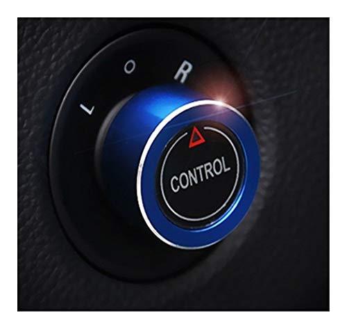 Control de espejo Espejo retrovisor de coche Interruptor de ajuste de la perilla de control de compensación cubierta decoración for Opel Astra GTC Karl Mokka Zafira Meriva accesorios del coche Interru