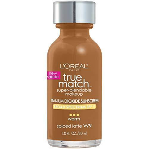 L'Oreal Paris Makeup True Match Super-Blendable Liquid Foundation, Spiced Latte W9, 1 Fl Oz,1...