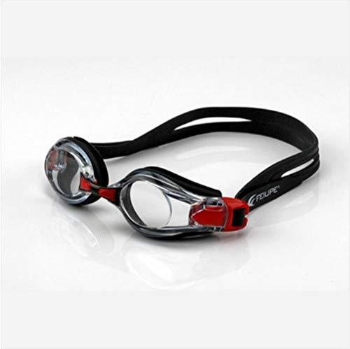 Zwembril bril anti condens waterdicht antimist onderwater sport sportkleding brillen brillen heren heren Dames, Rood