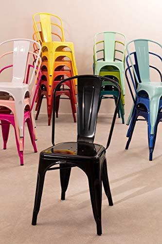 SKLUM Pack 4 Sedie LIX Sala da Pranzo Cucina Bar Stile Industrial Finitura lucida