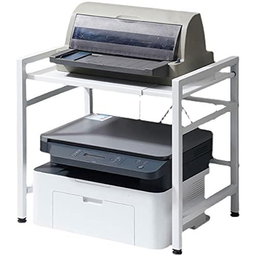 Estante Estante de la máquina de fax de la longitud ajustable de la impresora de escritorio, usado para el escáner de la sala de estar de la oficina Escritorio de impresora (blanco) estante multiusos