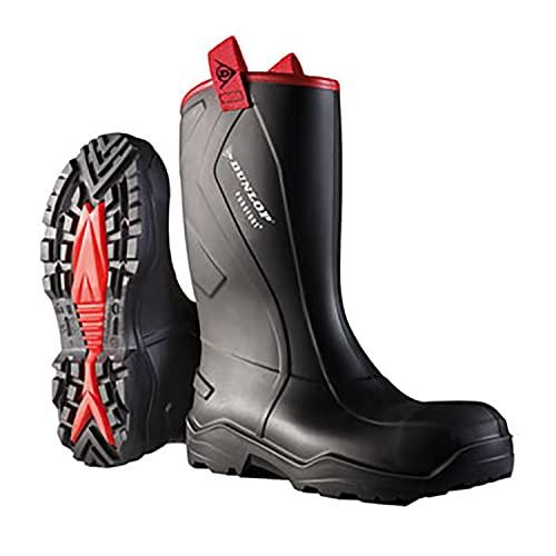 Dunlop Protective Footwear (DUO18) Dunlop Purofort Rugged, Botas de Seguridad Unisex Adulto, Black, 48 EU