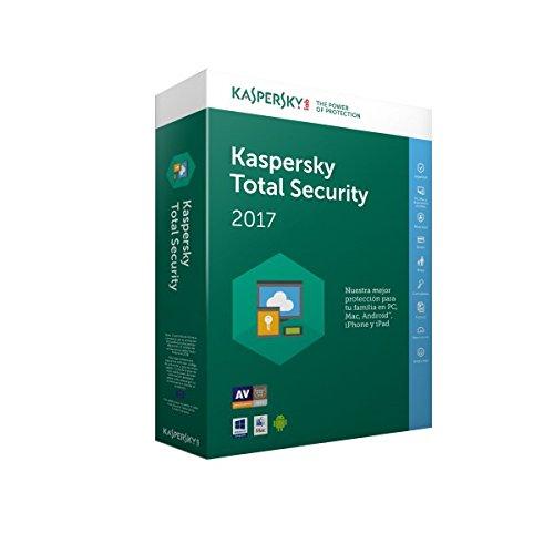 Kaspersky Lab Total Security Multi-Device 2017 3usuario(s) 1año(s) Español - Seguridad y antivirus (3, 1 año(s), Soporte físico)