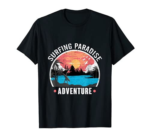 Surfing Paradise Diseño para un surfista Camiseta