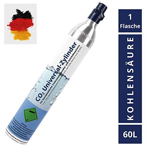 KLINOO | Neuer Premium CO2 Zylinder für SodaStream - Zylinder Flasche für 60 Liter Kohlensäure - Befüllt in Deutschland