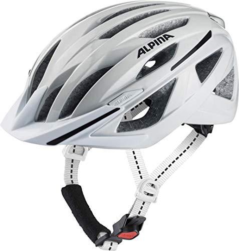Alpina Haga Unisex fietshelm, volwassenen, wit, 51-56cm