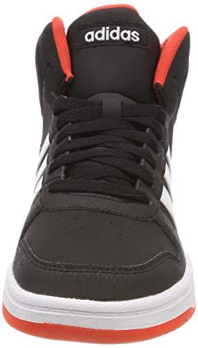 Adidas Hoops Mid 2.0 K, Zapatillas Altas Unisex niños, Negro (Core Black/Footwear White/Hi/Res Red 0), 28 EU