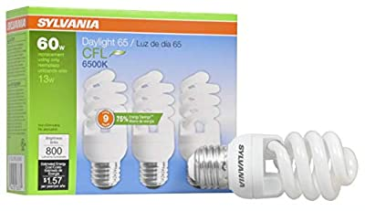 SYLVANIA General Lighting Sylvania CFL Light Bulb, Daylight, 3