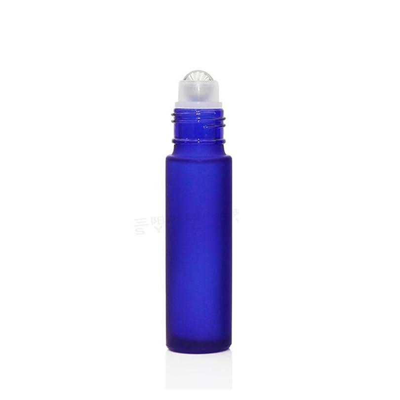 うまれたアクロバット自転車gundoop ロールオンボトル アロマオイル 精油 小分け用 遮光瓶 10ml 10本セット ガラスロールタイプ (ブルー)