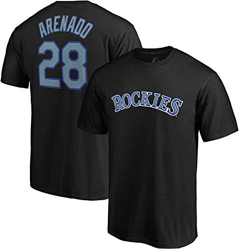 Outerstuff MLB Youth Performance Team Color Player Name and Number Jersey T-Shirt (Medium 10/12, Nolan Arenado)