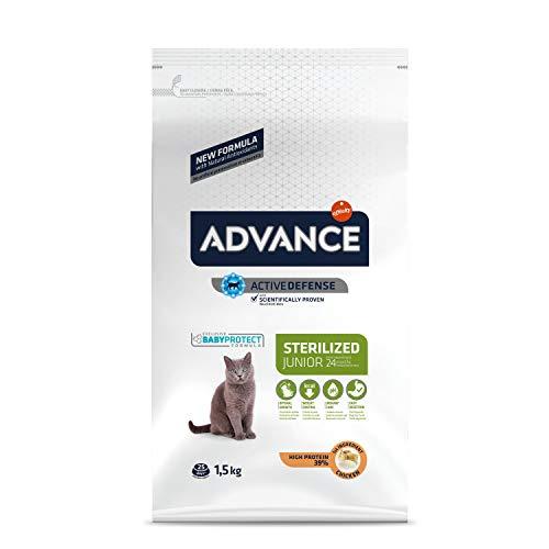 ADVANCE Sterilized - Croquettes pour Chat Stérilisé Junior avec Poulet - 1,5kg