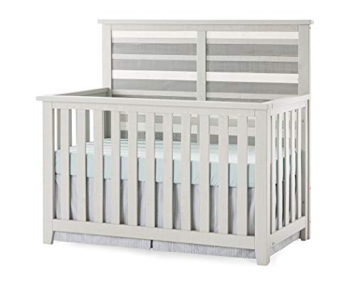 Check Out This Forever Eclectic by Child Craft Long Beach 4-in-1 Convertible Crib, Seascape Gray