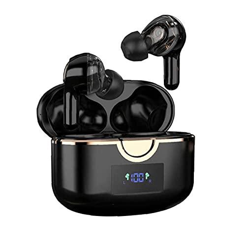 Auriculares Bluetooth T22 Auriculares inalámbricos T22 con 4 MICS Toque Control Auriculares en EUR Auriculares para la conducción deportiva Negro