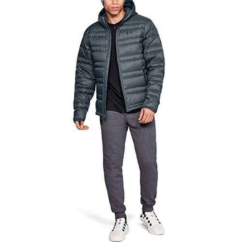 Under Armour Armour Down Hooded Jkt Chaqueta, Hombre, Gris,