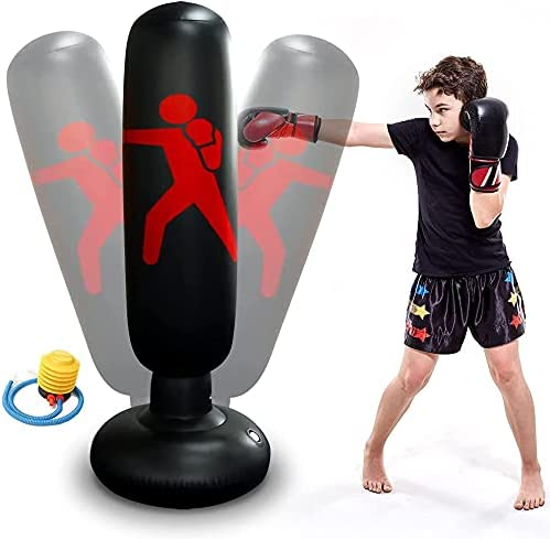 EZGETOP Inflatable Kids Punching Bag Philadelphia Max 80% OFF Mall Bounce Fre Stand with Back