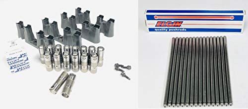 Hylift Johnson Roller Lifters TRAYS & BOLTS & Push Rods compatible with 1997-2012 Chevy 5.3 5.7 6.0 NON-AFM LS1 LS2 LS3 LS7