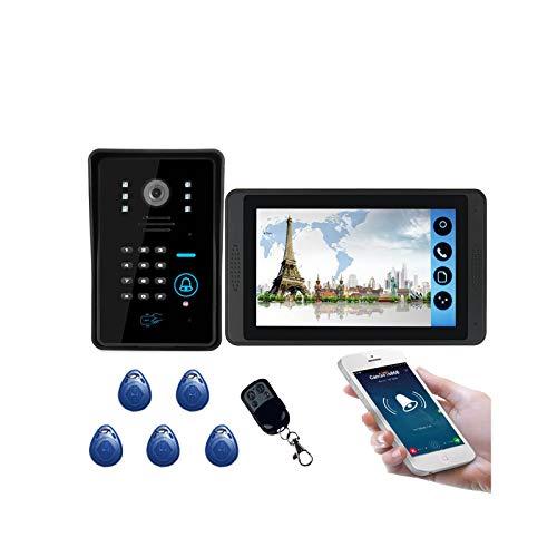 WanuigH Visor de Puerta Digital Smart Inalámbrico WiFi Teléfono Móvil Monitor De Hogar Remoto Monitor De Visión Nocturna De Al Aire Libre Conjunto De Red De Red De Video Doorbell Fácil de Instalar