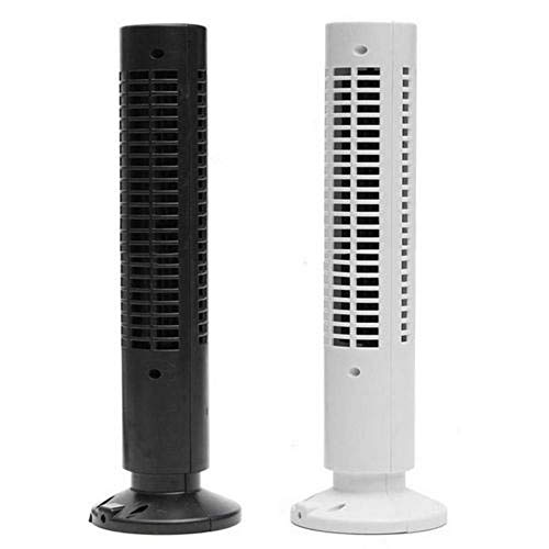 HAOMINGXING Mini tragbar Turmventilator BlattloserUSB Kuhlung Klimaanlage Luftreiniger Turmventilator Fan mit USB-Kabel (10.5cm*33cm) Schwarz