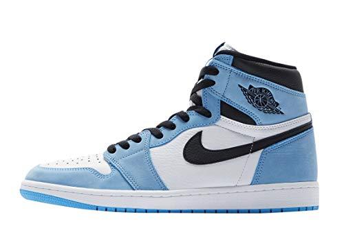 Jordan Air 1 Retro High 555088 134 - Zapatillas altas para hombre University Blue, (Blanco/University Azul-negro), 44.5 EU