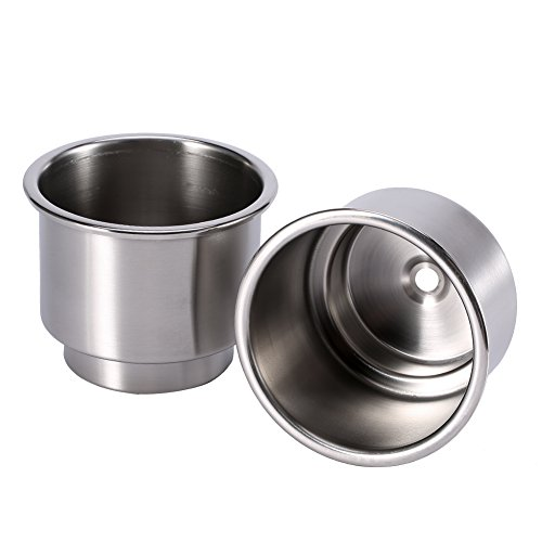 4pcs Universal Sostenedor de la bebida de la taza, acero inoxidable, Sostenedor de taza para Marina/RV/Bote/Yate/Coche