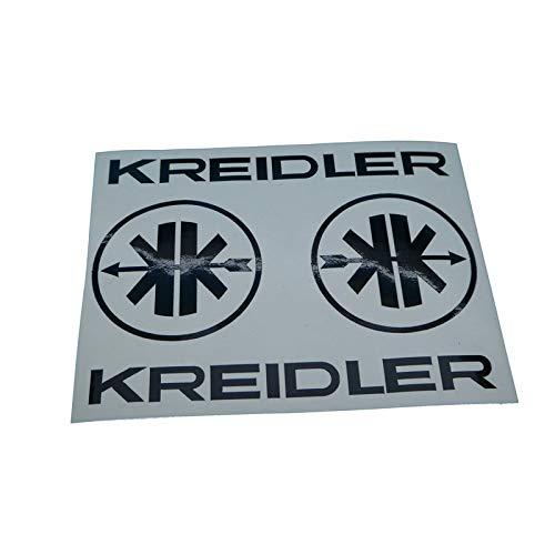 Kreidler MF Mofa Tank Verkleidung Aufkleber Schriftzug mit Logo, Ersatzteil Sticker oder als Tank Schriftzug Dekor. Zum Oldtimer Restaurieren von Lack und Verkleidung. Alternativ zum Motorrad Emblem