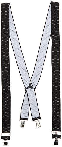 Amazon-Marke: FIND Herren Hosenträger, Schwarz (schwarz gepunktet), One Size, Label: One Size