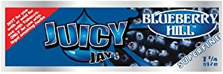 Juicy Jays Superfine Blueberry Hill Flavored Rolling Papers 1 1/4 - 3 Pack
