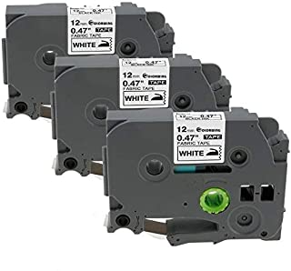 ブラザー TZe 布 テープ (白地/黒字) 互换 ピータッチ(P-touch)テープ(12mm)TZe-FA231 ラベルライター用 テープ 3個セットPT-J100W PT-J100P PT-P300BT PT-P710BT