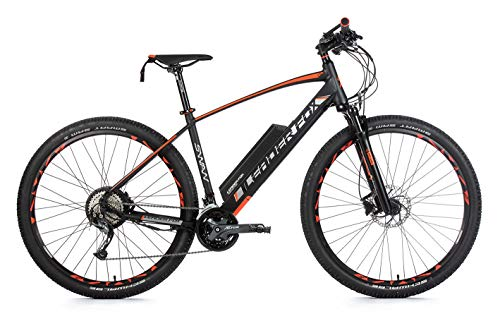 29 Zoll Alu Leader Fox Swan Pedelec E-Bike Mountain Bike MTB Elektro Fahrrad RH 54cm schwarz orange