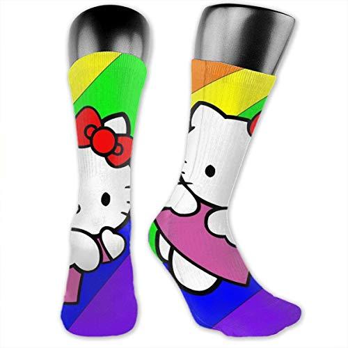 Flying Hello Kitty - Calcetines de compresión para hombre y mujer