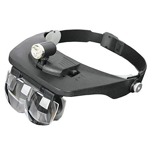 1.2X 1.8X 2.5X 3.5X Lupa iluminada Lentes de la Lente Cabezal Ajustable para Instrumentos ópticos de Segunda Mano